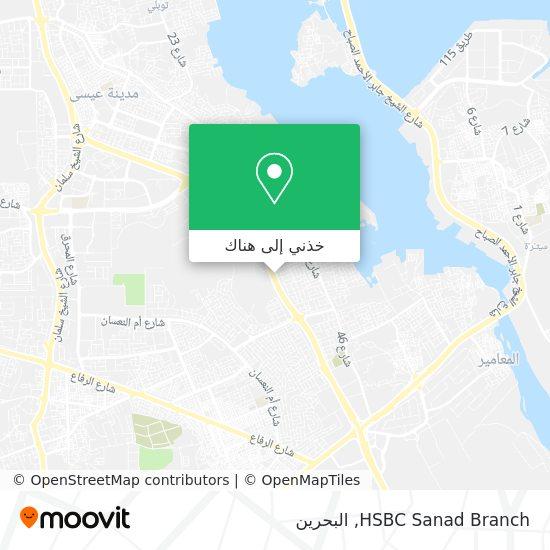 خريطة HSBC Sanad Branch