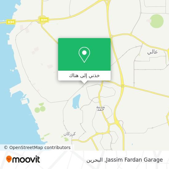 خريطة Jassim Fardan Garage