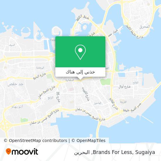 خريطة Brands For Less, Sugaiya