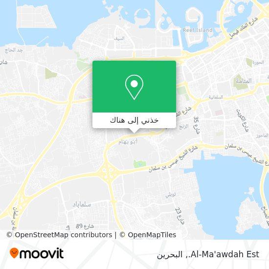 خريطة Al-Ma'awdah Est.