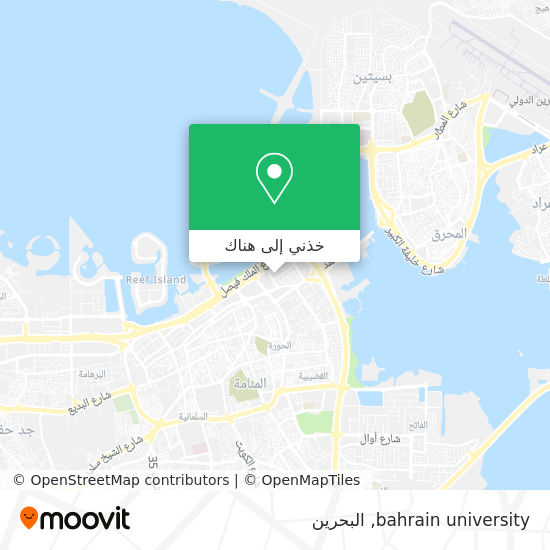 خريطة bahrain university