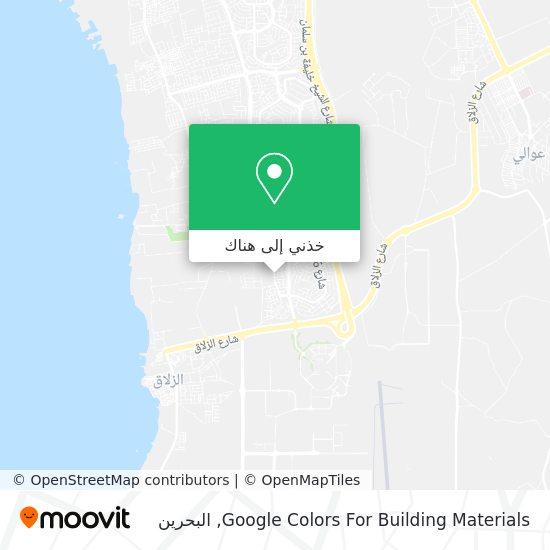 خريطة Google Colors For Building Materials