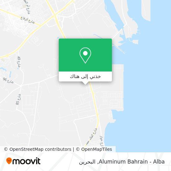 خريطة Aluminum Bahrain -  Alba