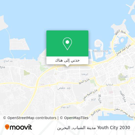 خريطة Youth City 2030 مدينة الشباب