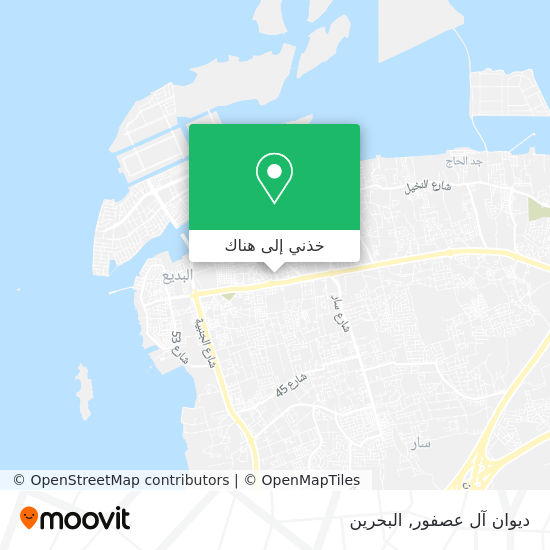 خريطة ديوان آل عصفور