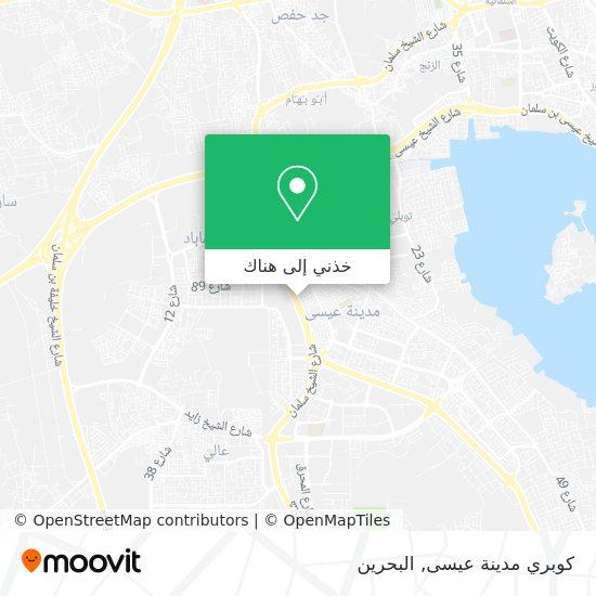 خريطة كوبري مدينة عيسى
