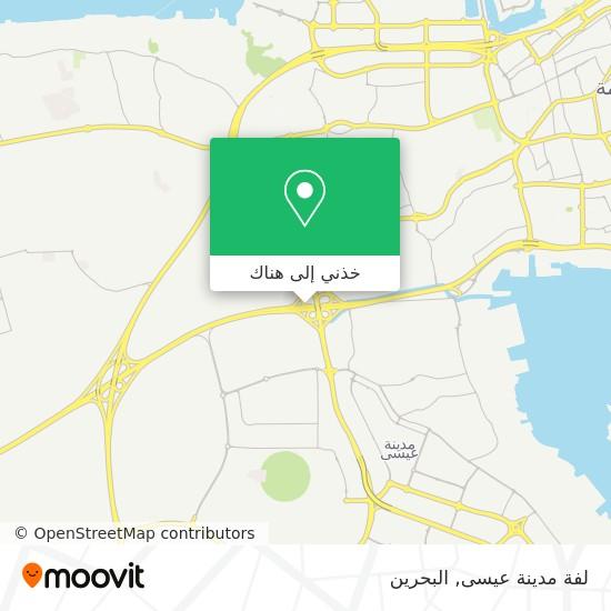 خريطة لفة مدينة عيسى