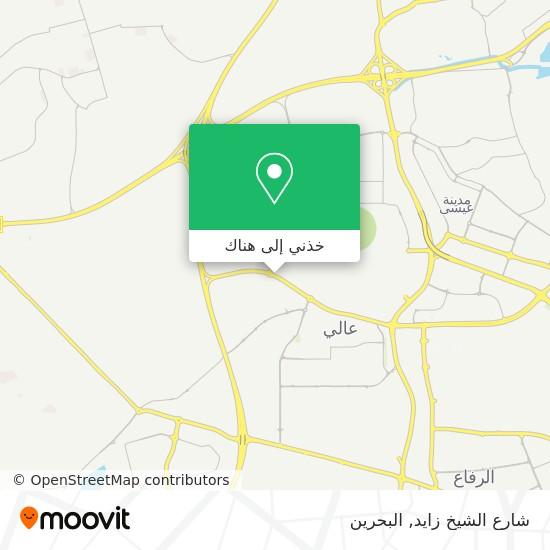 خريطة شارع الشيخ زايد