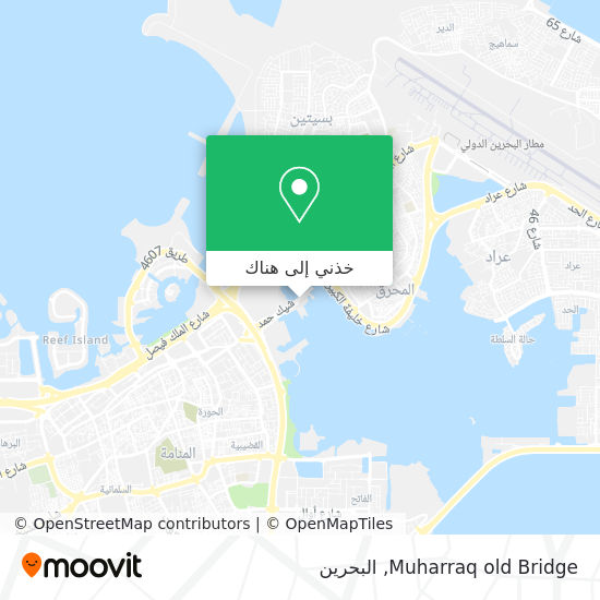 خريطة Muharraq old Bridge