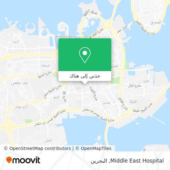 خريطة Middle East Hospital