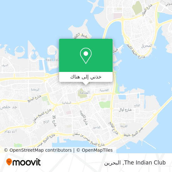 خريطة The Indian Club