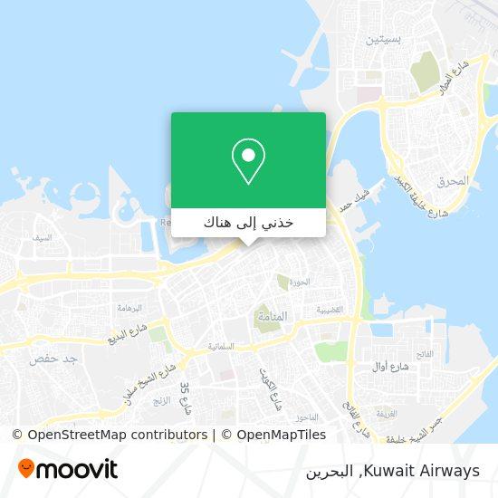 خريطة Kuwait Airways