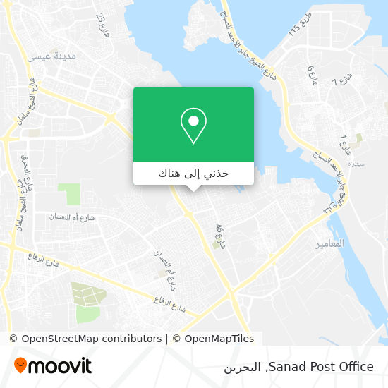 خريطة Sanad Post Office