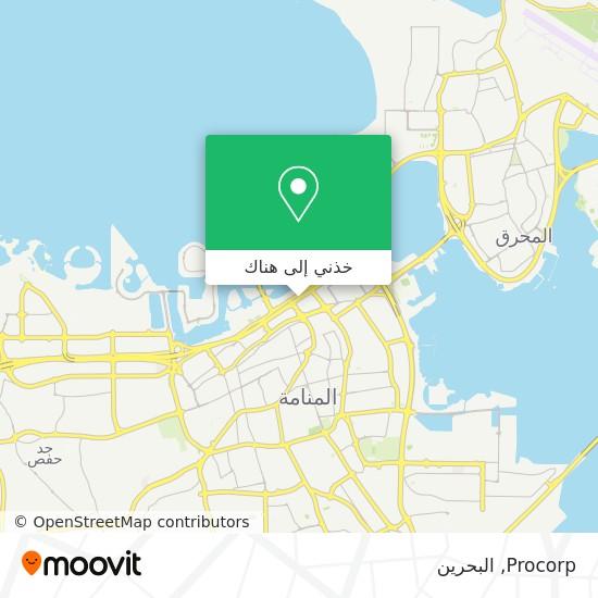 خريطة Procorp