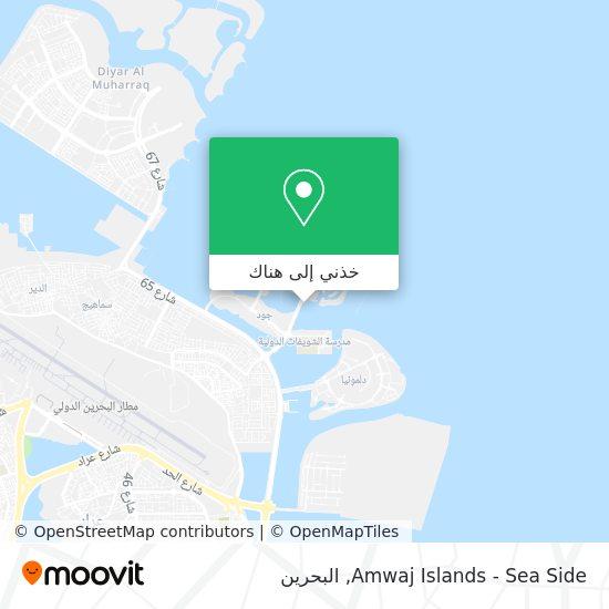خريطة Amwaj Islands - Sea Side