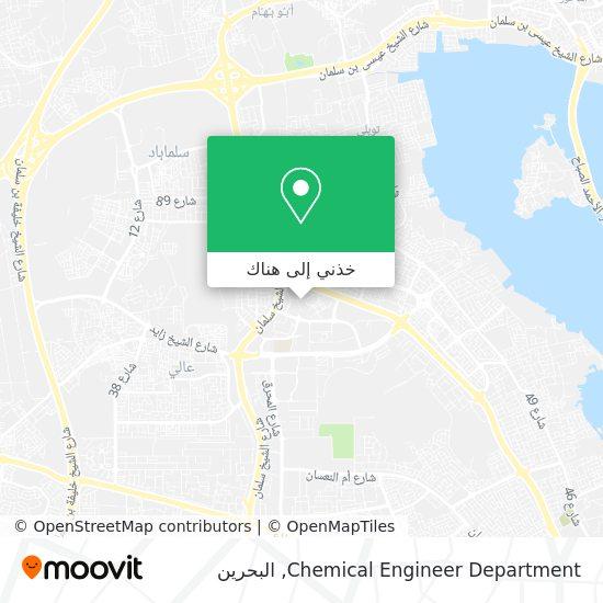خريطة Chemical Engineer Department