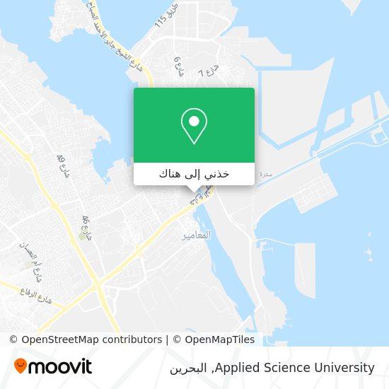 خريطة Applied Science University
