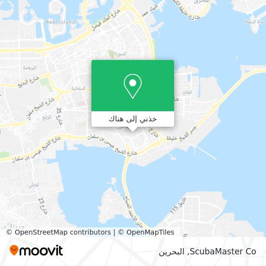 خريطة ScubaMaster Co