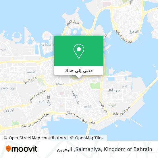 خريطة Salmaniya, Kingdom of Bahrain