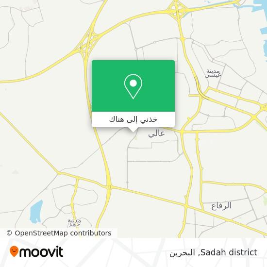 خريطة Sadah district