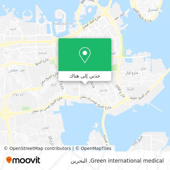 خريطة Green international medical