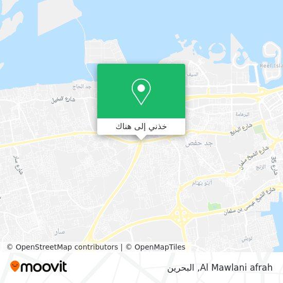 خريطة Al Mawlani afrah