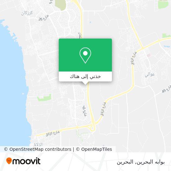 خريطة بوابه البحرين