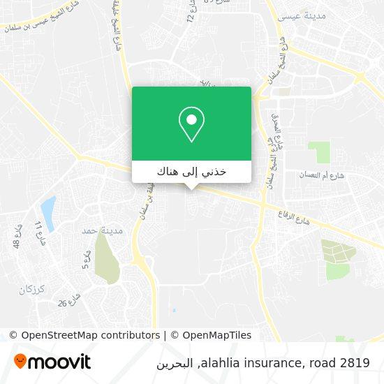 خريطة alahlia insurance, road 2819