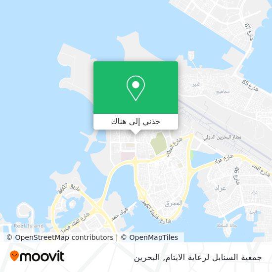خريطة جمعية السنابل لرعاية الايتام
