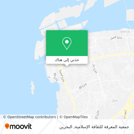 خريطة جمعية المعرفة للثقافة اﻹسلامية