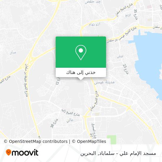 خريطة مسجد الإمام علي - سلماباد