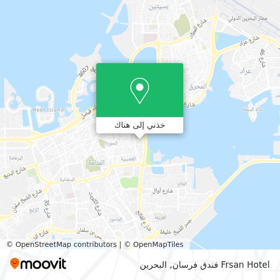خريطة Frsan Hotel فندق فرسان