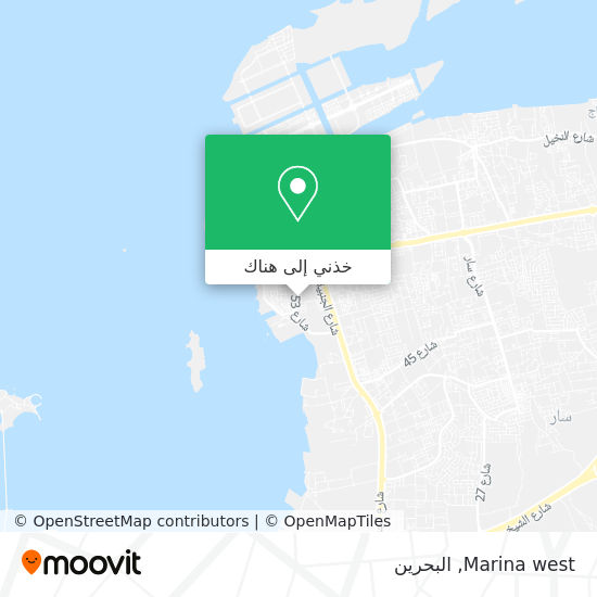 خريطة Marina west