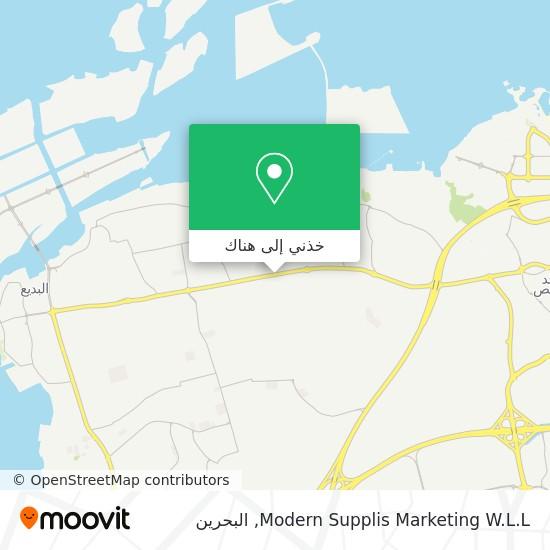 خريطة Modern Supplis Marketing W.L.L