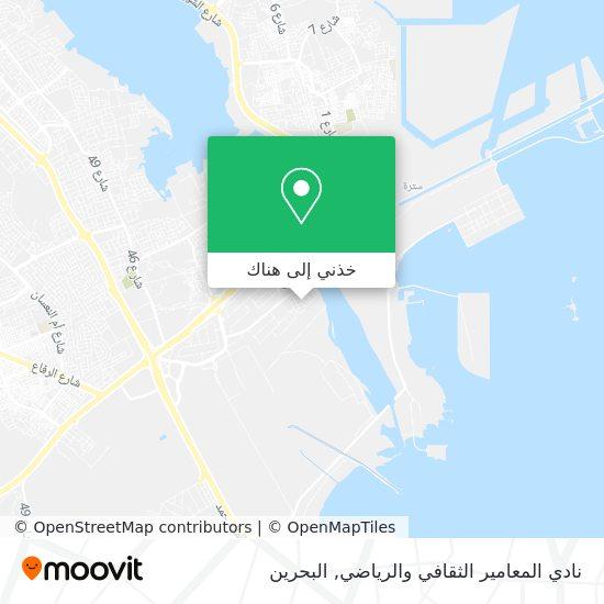 خريطة نادي المعامير الثقافي والرياضي
