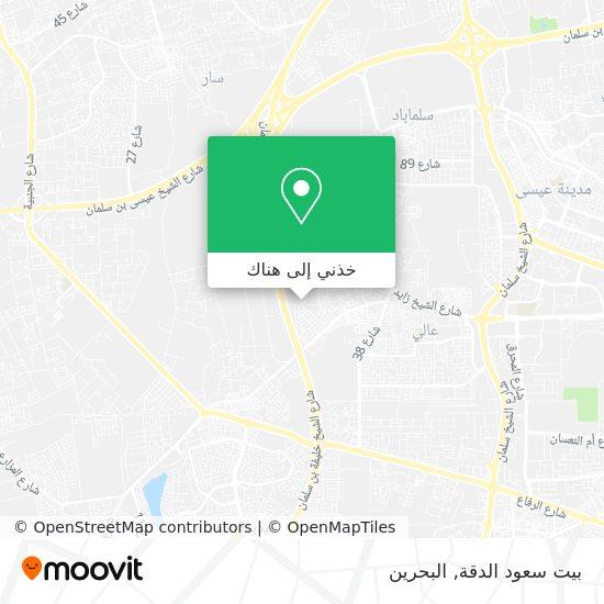 خريطة بيت سعود الدقة