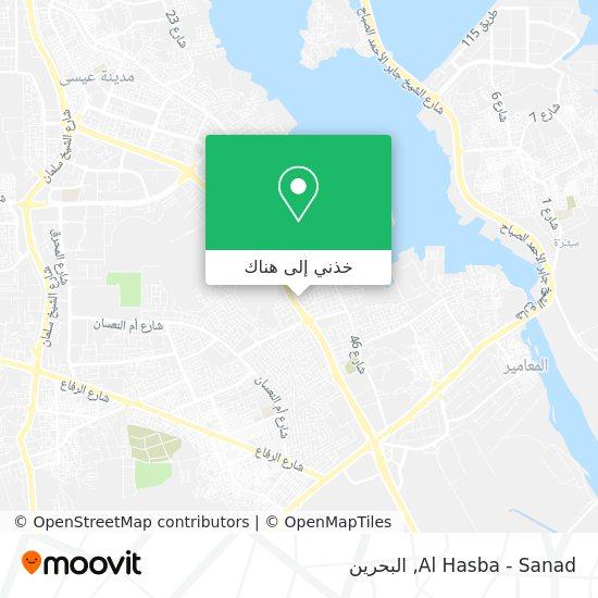 خريطة Al Hasba - Sanad