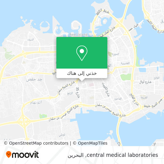 خريطة central medical laboratories