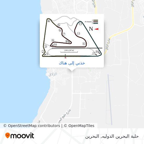 خريطة حلبة البحرين الدوليه