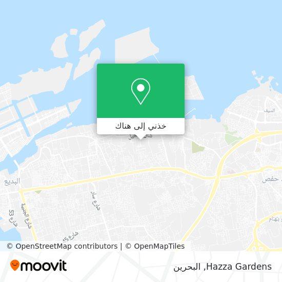 خريطة Hazza Gardens