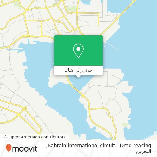 خريطة Bahrain international circuit - Drag reacing