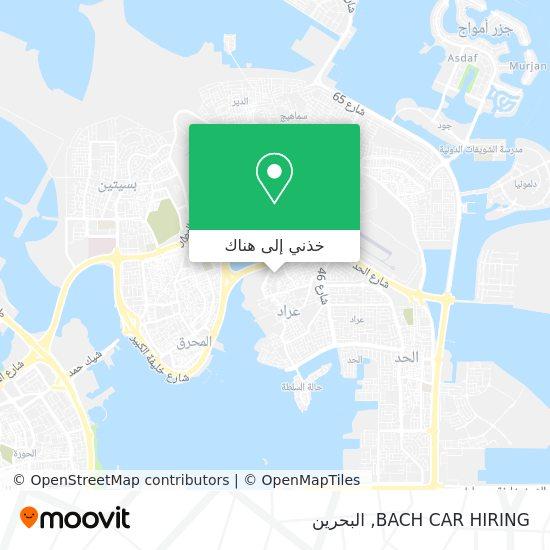 خريطة BACH CAR HIRING