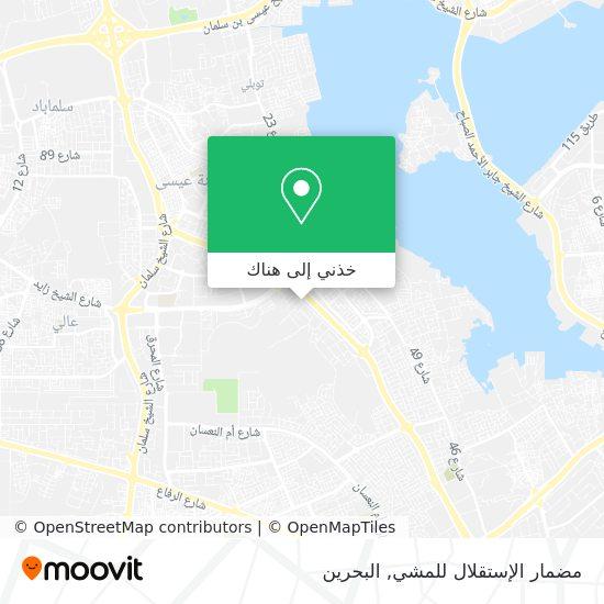 خريطة مضمار الإستقلال للمشي