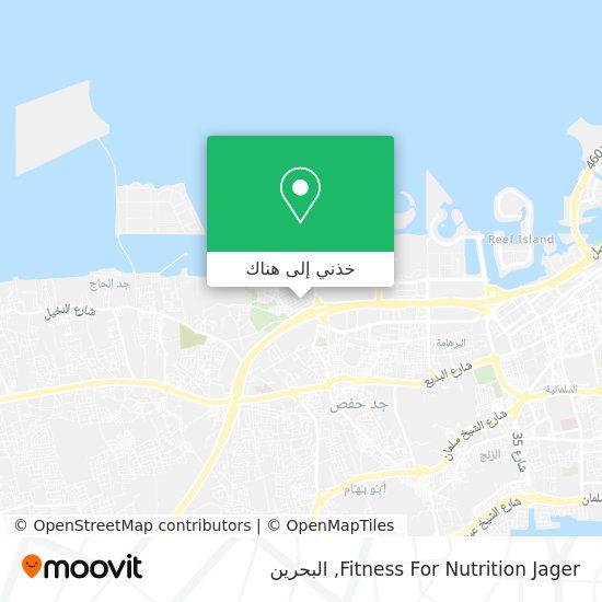 خريطة Fitness For Nutrition Jager