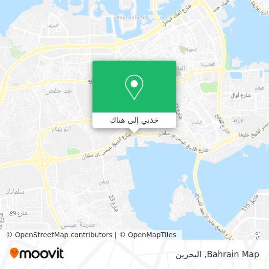 خريطة Bahrain Map