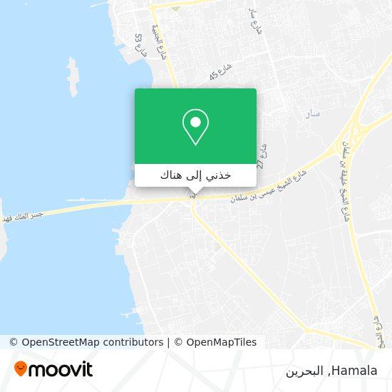 خريطة Hamala