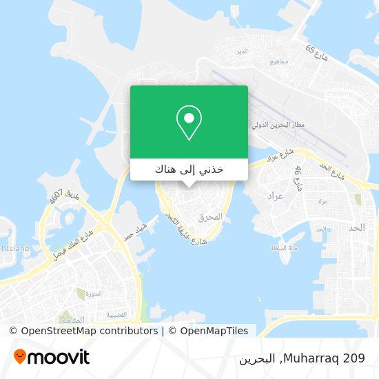 خريطة Muharraq 209
