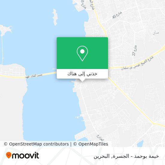 خريطة خيمة بوحمد - الجسرة