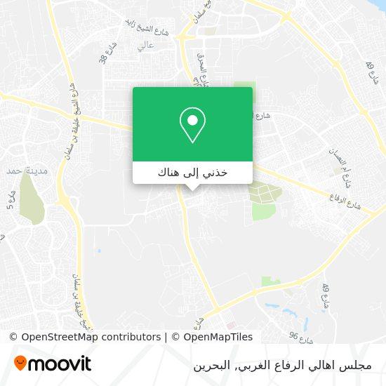 خريطة مجلس اهالي الرفاع الغربي