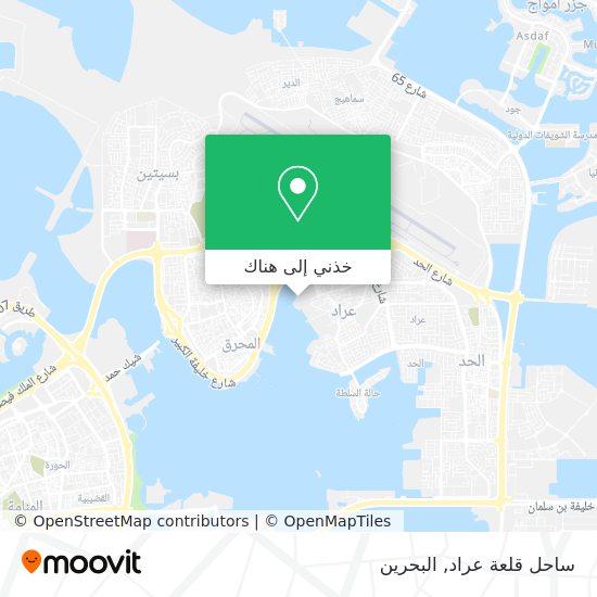 خريطة ساحل قلعة عراد